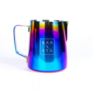 Rainbow Milk Frothing Jug and Pitcher for the latte art lover from Barista